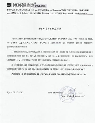 Корадо Б-я АД - Стражица
